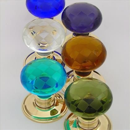 Great Chequerboard Glass Door Knobs Showing All Colours Including Clear.  Http://www.