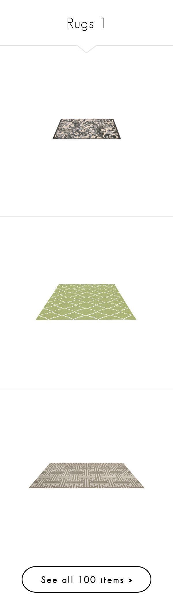"""""""Rugs 1"""" by thalassy ❤ liked on Polyvore featuring rugs, home, light green area rug, flat weave rug, flatweave wool rug, pattern rug, flat woven rugs, floors, tapetes and handwoven rug"""