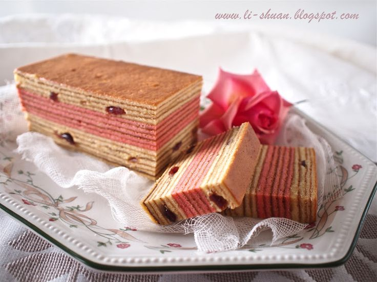 蔓越莓千层蛋糕 (Cranberry Kuih Lapis)