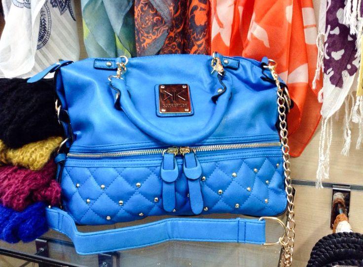 Kardashian Kollection Handbag in Sky Blue, sold by La Moda Boutique $49.95
