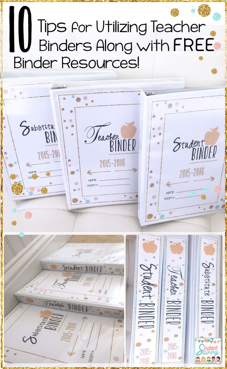 StudentSavvy: 10 Tips for using TEACHER BINDERS and Free Binder Resources!