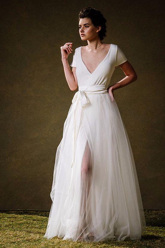 wrap wedding dresses bridesmaid dresses