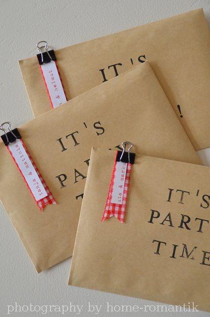 "Home-Romantik: DIY - Einladungen im ""Bürostyle"""