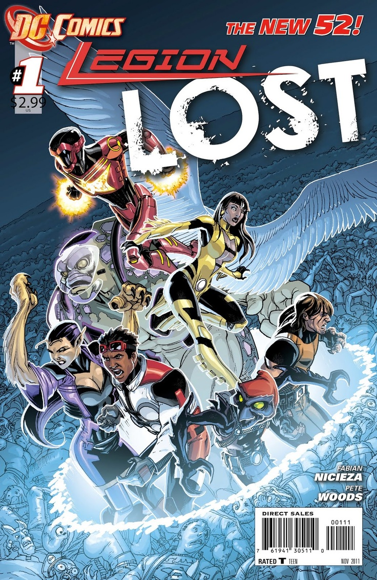 Legion Lost #0, 116 (now Discontinued) September 2011  January