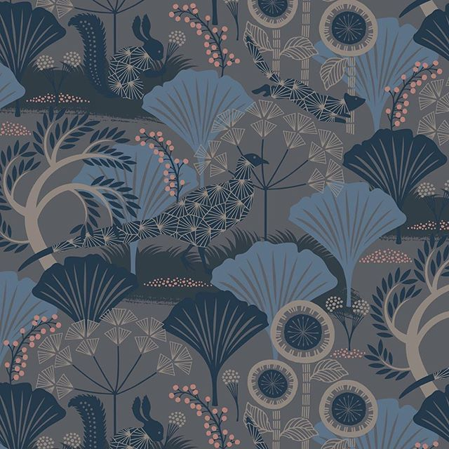 Mårdgömma 1470 — from Wonderland wallpaper collection for Boråstapeter #Mårdgömma #wallpaper #Boråstapeter #surfaceprint #limtryck #WerningWonderland #HannaWerning #wallpaperwednesday