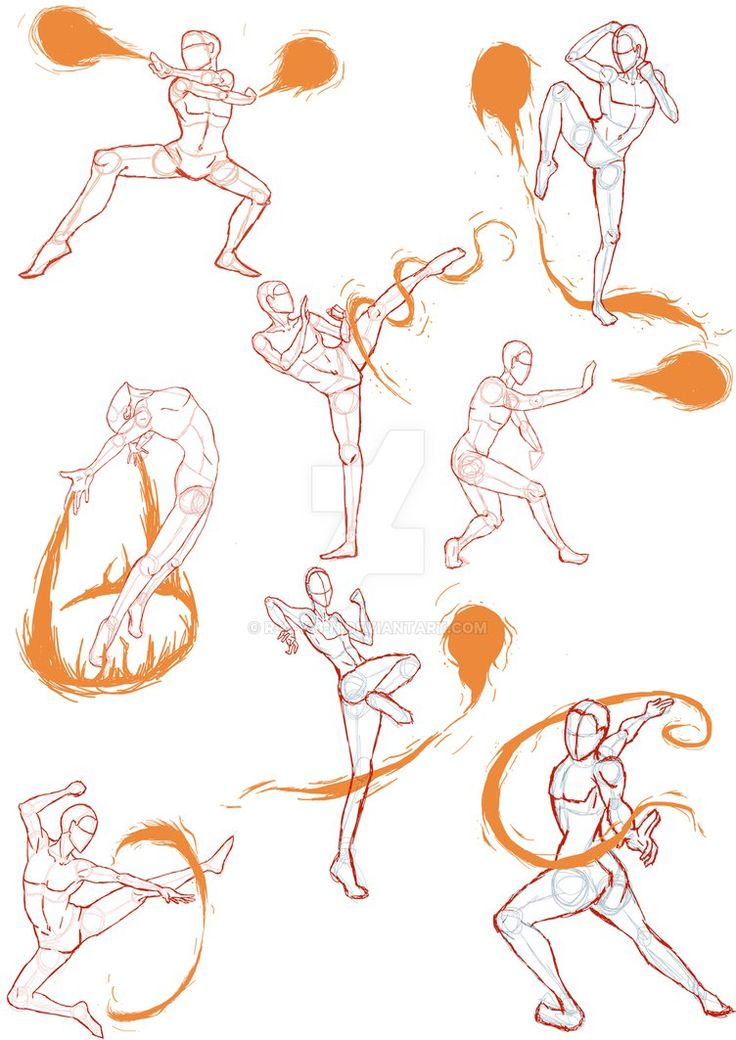 Practice Sketches 4 (FireBender Poses) by R-a-v-3-n on DeviantArt