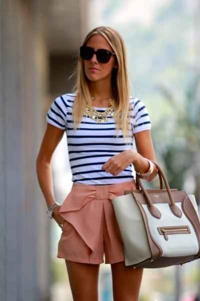 obsessed: Sunday Brunch, Lakes House, Nautical Stripes, Navy Pink, Dreams Closet, Cute Outfits, Bows Shorts, Summer Outfits, Big Bows