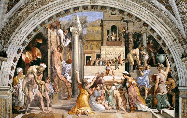 Incendio di Borgo, Raphael. Stanze di Raffaello