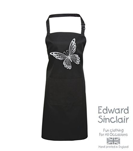 BUTTERFLY DESIGN' Black Apron with Silver Sparkling Glitter print Edward Sinclair http://www.amazon.co.uk/dp/B00UAY5HKO/ref=cm_sw_r_pi_dp_LWSgvb038Q6VV