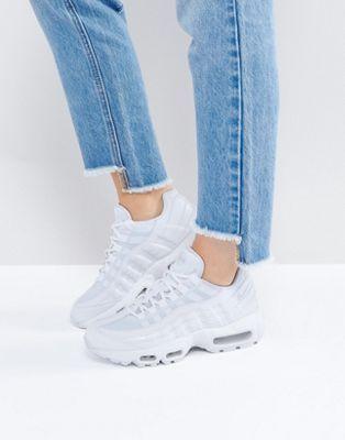 Белые кроссовки Nike Air Max 95 Essential