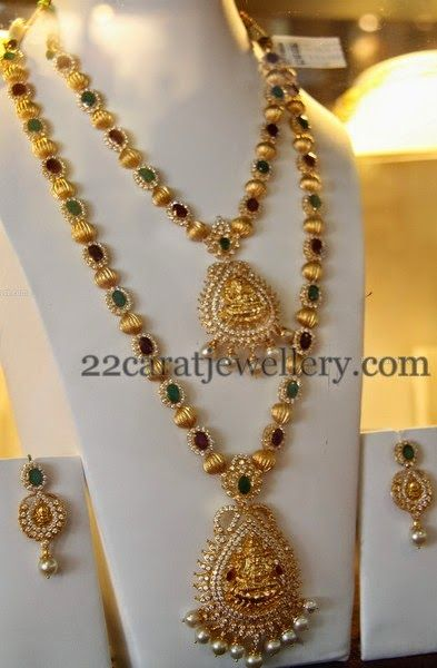 Jewellery Designs: Temple Sets with Shining Gold Balls