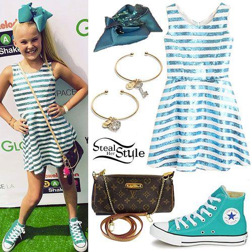 Jojo Siwa: Sequin Stripe Dress, Hair Bow