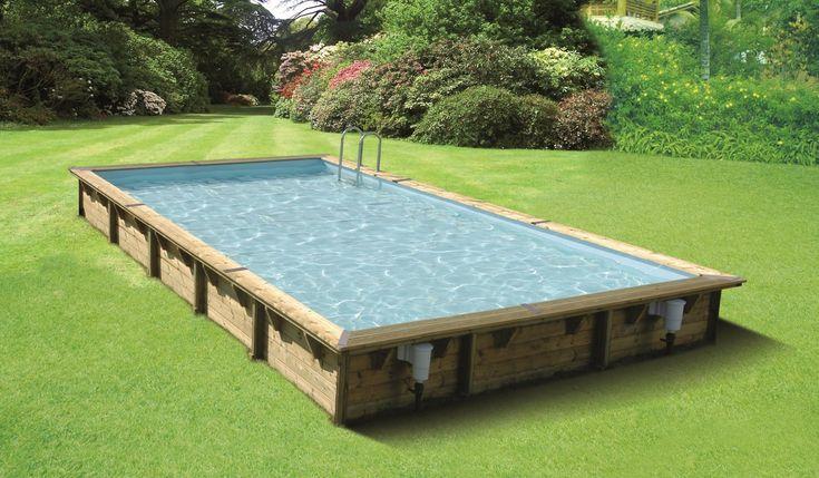 Ubbink Linéa 500×800 houten zwembad