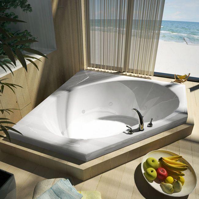 4 foot corner bathtub. Atlantis Whirlpools Eclipse 60 x Corner Whirlpool Jetted Bathtub in  White 60x60 Best 25 bathtub ideas on Pinterest 2 person Two