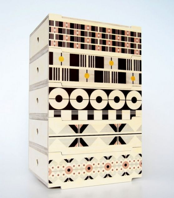 2DO Stackable Storage Tower, De Steyl + Renee Rossouw Studio