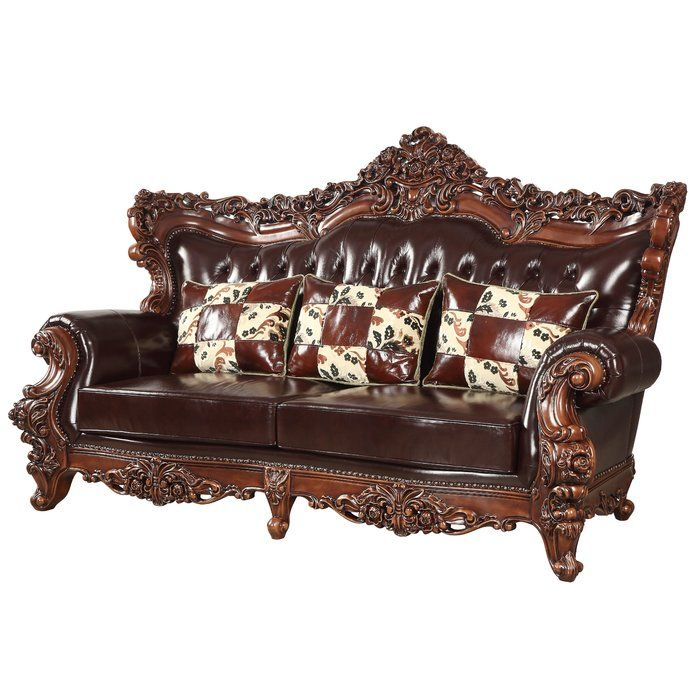 Best Astoria Grand Keagan Leather Sofa Wayfair Leather Sofa 400 x 300