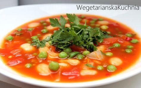 Zupa fasolowa z zielonym groszkiem i tymiankiem - Wegetariańska kuchnia