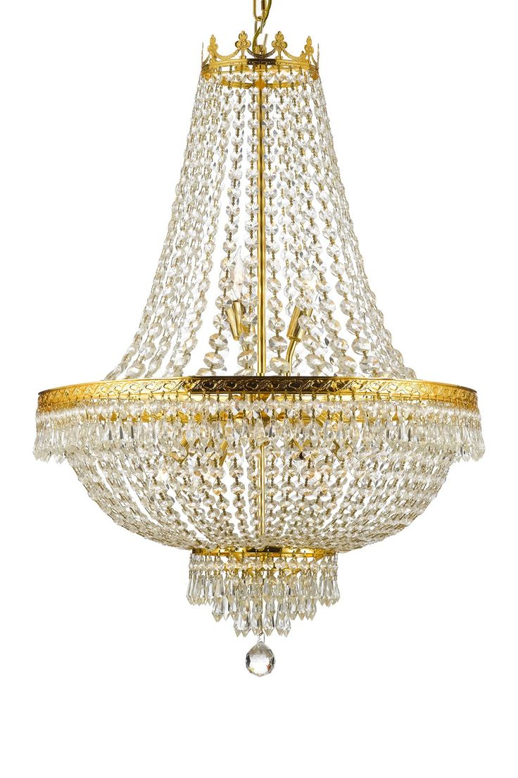 Crystal Empire Gold Nine Light Chandelier