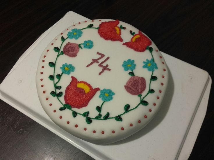 Hungarian embroidery cake