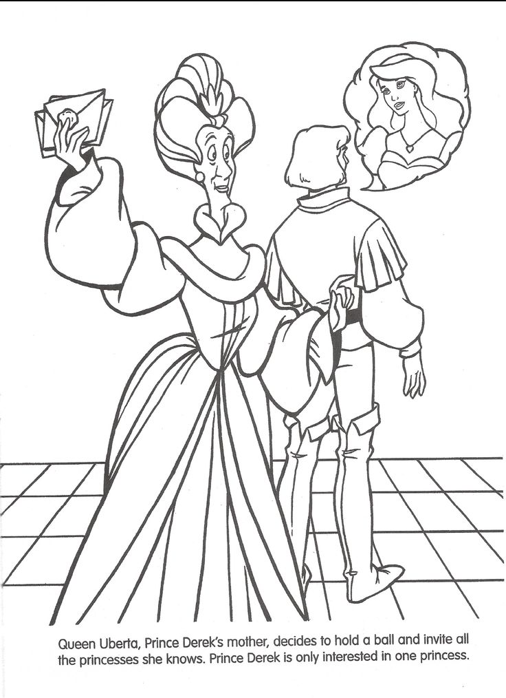 disney swan princess coloring pages - photo#17