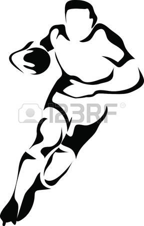 rugby: rugby player logo