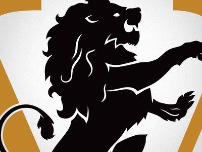 Vault Lion logo per una vecchia banca convertito in un high-end luogo di nozze / ristorante. Con un costume Lion!