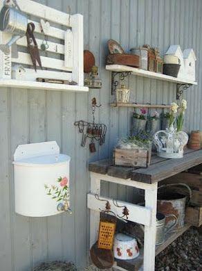 nice potting bench idea