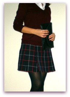How to get a kilt and a scarf out of an old skirt