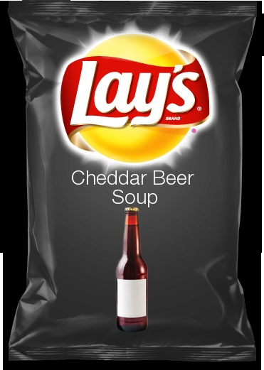 Cheddar Beer Soup...this is my submission for the new lay's chip flavor...go vote!!