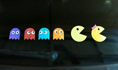 Using a cutting machine, alcohol inks and vinyl, you can make these darling Pac Man Car Decals that are customizable for your family.  Post by Morena's Corner.