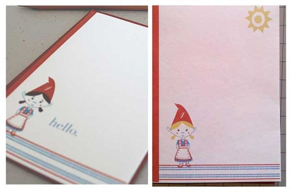 Custom Greeting Cards Note Card Set by GiantGnomepaperco on Etsy
