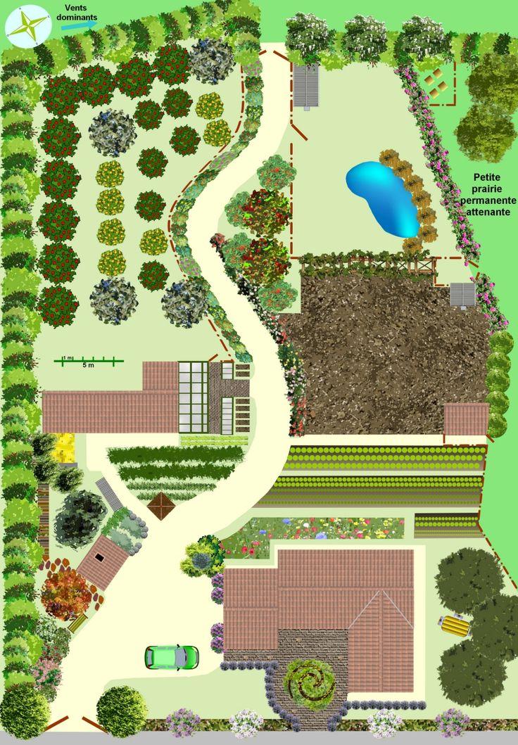 Les 25 meilleures id es de la cat gorie plan jardin sur for Creer un jardin paysager