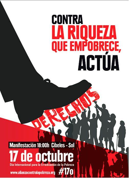 Convocadas más de 30 movilizaciones en España para denunciar la creciente pobreza y la desigualdad