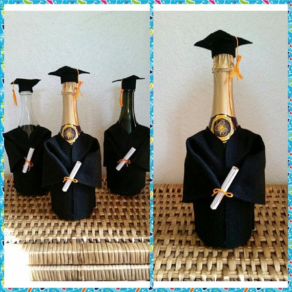 Graduation Cap and Gown Bottle Covers
