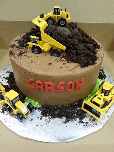 Dump Truck Birthday Cake Custom Cakes Pinterest