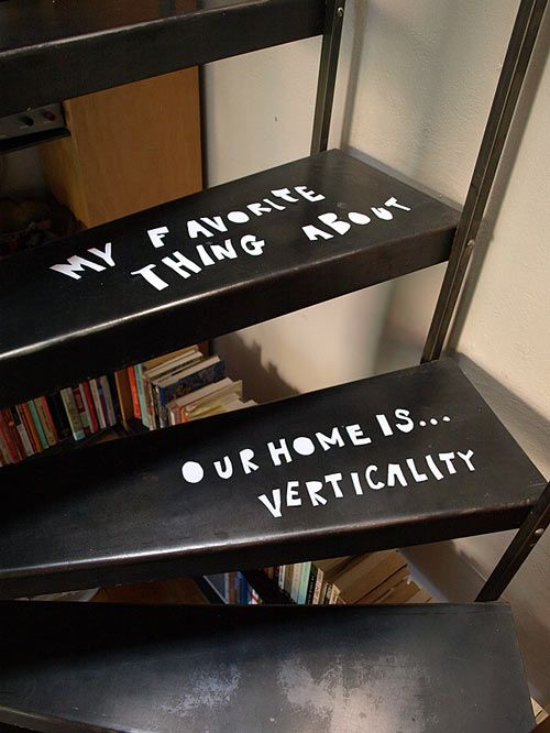 handwriting on stair