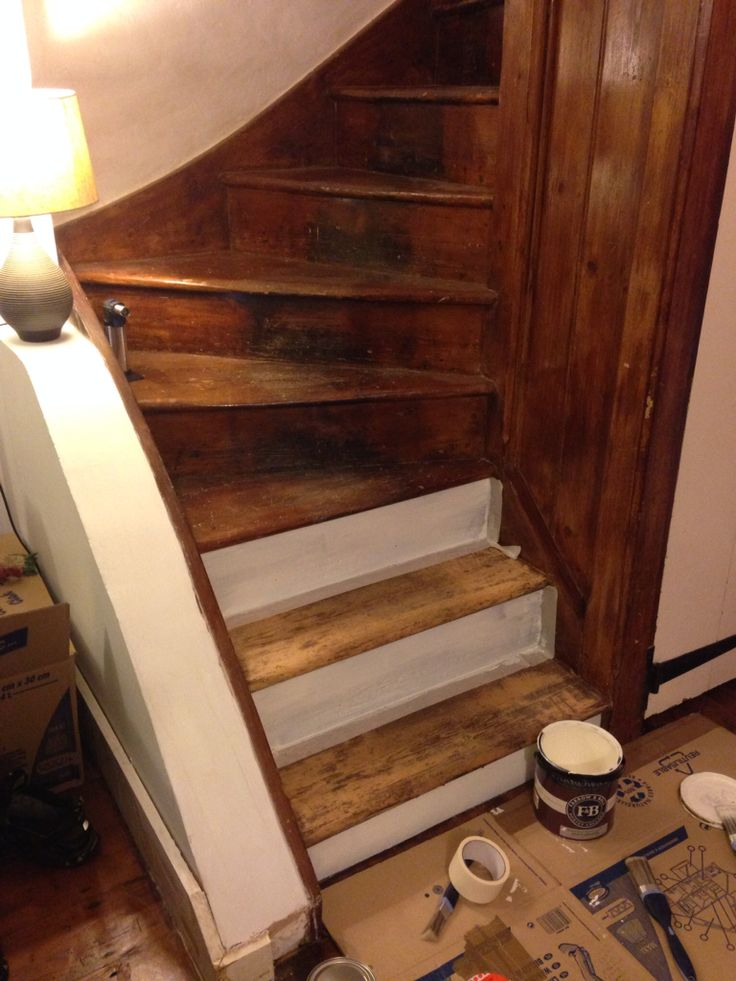 Painting the stairs white