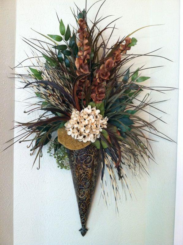 Large Floral Wall Sconces : 17 Best images about Sconces on Pinterest Powder room design, Vase and Large flower arrangements