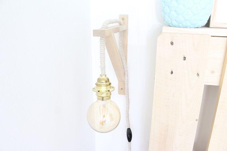 diy fabriquez facilement une ampoule suspendue en 5 tapes d co inspirante pinterest. Black Bedroom Furniture Sets. Home Design Ideas