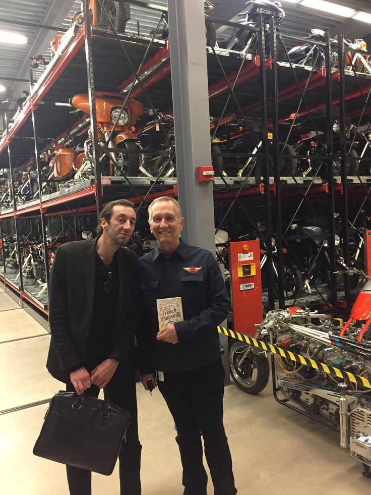 Liam Callanan @liamcallanan 1d Big thanks to Jim Fricke & @harleydavidson Museum for 5star MKE welcome 4 5star auteur Antoine Laurain! C u tmw 3pm @boswellbooks