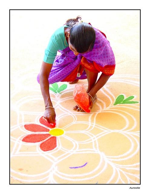Set 2 Making Kolam by Pinotto58, via Flickr
