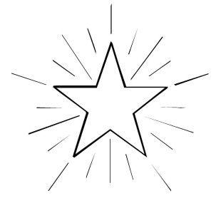 Schneeflocken und sterne kostenlose malvorlage stern 4 - Ausmalbild stern ...