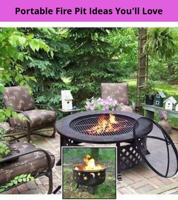 Portable Diy Concrete Fire Pit Ideas And Metal Fire Pit Ideas Diy