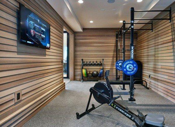 Top 40 Best Home Gym Floor Ideas – Fitness Room Flooring Designs