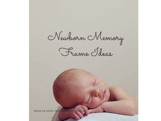 What to do with that cute baby hospital hat?! Newborn Memory Frame