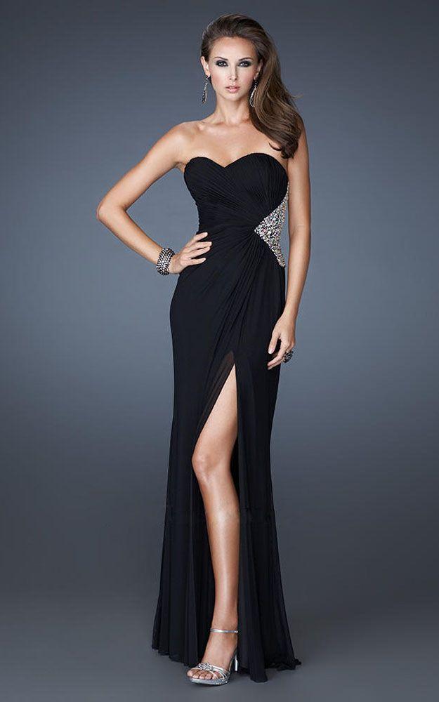 Black dress long formal hairstyles