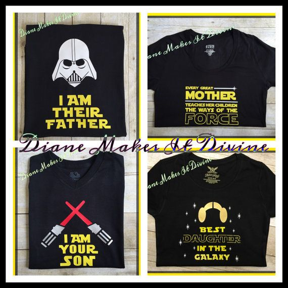 Star Wars Family shirts matching disney by DianeMakesItDivine