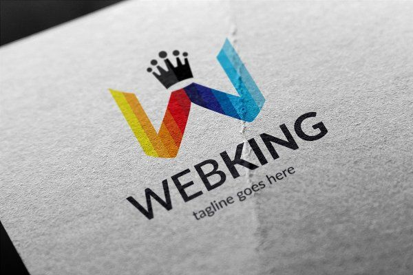 Web King (Letter W) Logo by tkent on @creativemarket