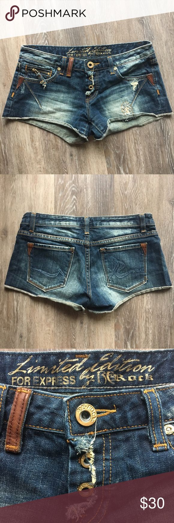 LIMITED EDITION Express Shorts! These shorts are PERFECT for a country concert, tailgate, Nashville, four wheelin, summer time activities Express Shorts Jean Shorts