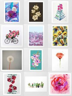 Society6 Floral Art Prints - Society6 is home to hundreds of thousands of artists from around the globe, uploading and selling their original works as 30+ premium consumer goods from Art Prints to Throw Blankets. They create, we produce and fulfill, and every purchase pays an artist.